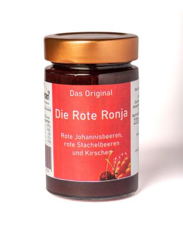 online kaufen Die Rote Ronja Marmelade mit Kirschen, rote Johannisbeeren und Stachelbeeren