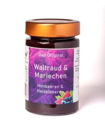 online kaufen Waltraud und Mariechen Marmelade mit Himbeeren und Heidelbeeren