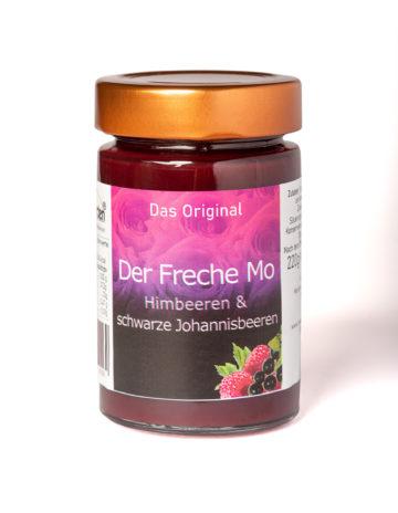 online kaufen Der Freche Mo Marmelade mit Himbeeren und schwarze Johannisbeeren