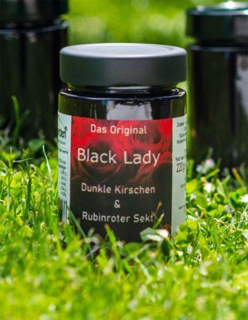Black Lady Marmelade mit schwarzen Kirschen und Bodensee Secco online kaufen