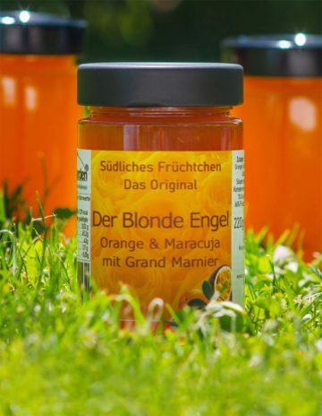 Der Blonde Engel Marmelade mit Orange und Maracuja mit etwas Orangenlikör online kaufen