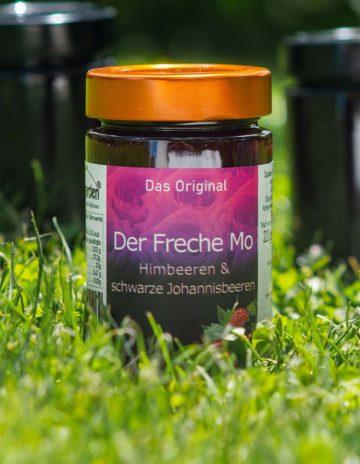 Der Freche Mo Marmelade mit Himbeeren und schwarze Johannisbeeren online kaufen