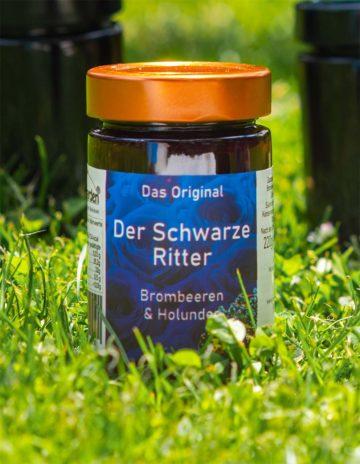 Der Schwarze Ritter Marmelade mit Brombeeren und schwarze Johannisbeeren online kaufen