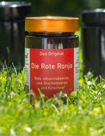 Die Rote Ronja Marmelade mit Kirschen, rote Johannisbeeren und Stachelbeeren online kaufen