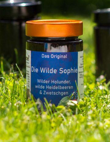 Die Wilde Sophie Marmelade mit Wilde Heidelbeeren, Brombeeren und Zwetschgen online kaufen