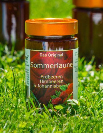 Sommerlaune Marmelade mit Erdbeeren, Johannisbeeren und Himbeeren online kaufen