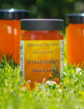 Urlaubsgefühl Marmelade mit Orange und Ananas online kaufen