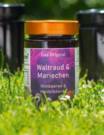 Waltraud und Mariechen Marmelade mit Himbeeren und Heidelbeeren online kaufen